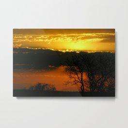Dramatic Winter Sunset Metal Print