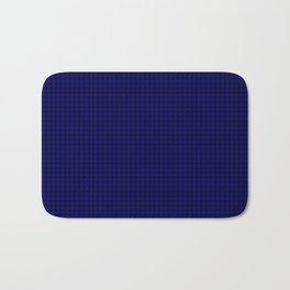 Australian Flag Blue and Black Houndstooth Check Bath Mat
