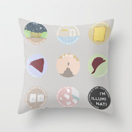 EVAK: A MINIMALIST LOVE STORY Throw Pillow