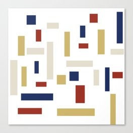 Abstract Theo van Doesburg Composition VIII (White) The Three Graces Canvas Print