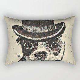 Aristocratic dog Rectangular Pillow