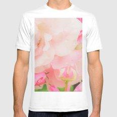 romantic rose design MEDIUM Mens Fitted Tee White