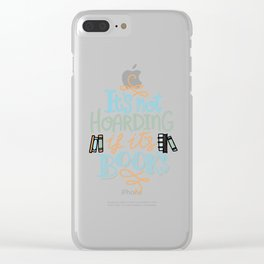 Hoarding Books Summer Colors Clear iPhone Case