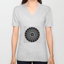 Modern Bohemian black and white Mandala Unisex V-Neck