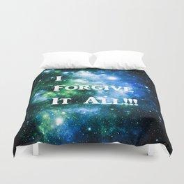 Blue Green Galaxy : I Forgive It All Duvet Cover