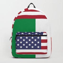 American Flag With Italian Flag Italy T-Shirt Italian Flag American Flag Backpack