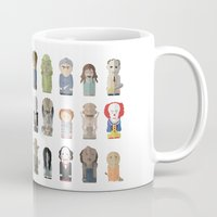 pennywise Mugs featuring Horror Icons by Big Purple Glasses