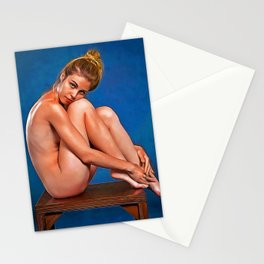 Nude Lady Sitting Stationery Cards