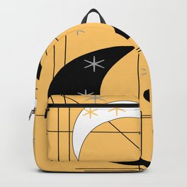 Mid-Century Boomerangs Yellow Backpack