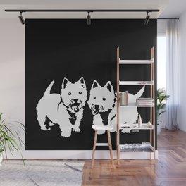 "West Highland Terrier ""The Westie"" Man's Best Friend Wall Mural"