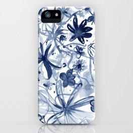 Midnight Desert Garden (watercolor) iPhone Case
