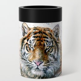 Tiger watercolor Can Cooler