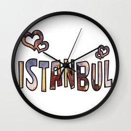 Love Istanbul Wall Clock