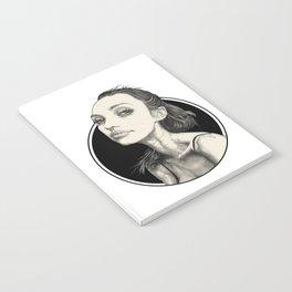 Arina Black Circle Notebook