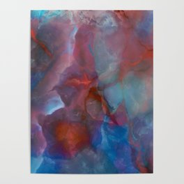 Colorful watercolor abstraction II Poster
