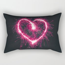 Firework Heart (Color) Rectangular Pillow
