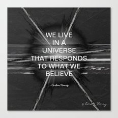 We Live In A Universe Quote - Society6 - Art - Luxury - Comforter - Bedding - Throw Pillows - Laptop Canvas Print