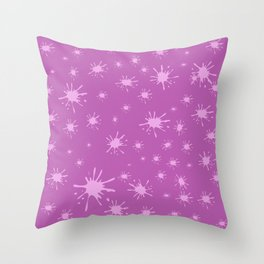 pink spots on pink background Throw Pillow