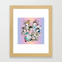 BTS Members -Love Yourself Framed Art Print