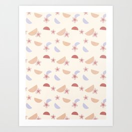 Shapes and Flowers Art Print