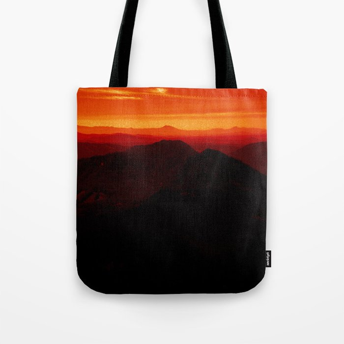 Red Horizon, Fire in the Distance. Tote Bag