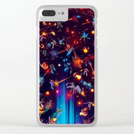 Space Battle Clear iPhone Case
