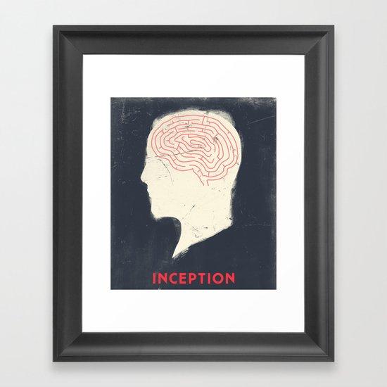 Inception - Movie Poster Framed Art Print