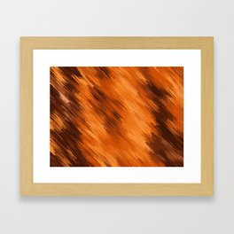 brown orange and dark brown painting texture abstract background Framed Art Print