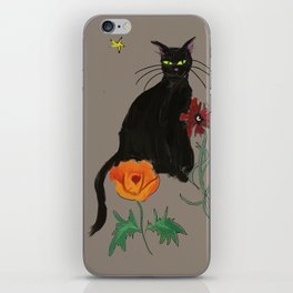Black cat Le Chat iPhone Skin