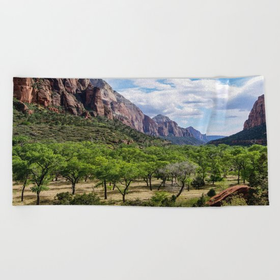Valley cliffs 4 Beach Towel