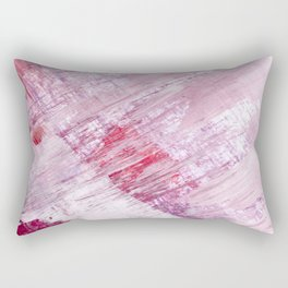 Magnetic [10]: a minimal abstract piece in gold, pink, red, white and purple Rectangular Pillow