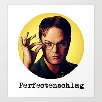 dwight schrute Art Prints featuring Perfectenschlag  |  Dwight Schrute by Silvio Ledbetter