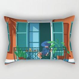 The Blue Hat Girl / Breakfast Rectangular Pillow