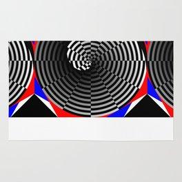 Digital Checker Yin Yang Rug