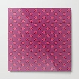 Pink flowers on pink Metal Print
