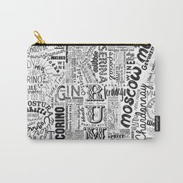 Tag Cloud Black Full Drinks Carry-All Pouch