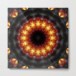 Mandala burning heat Metal Print