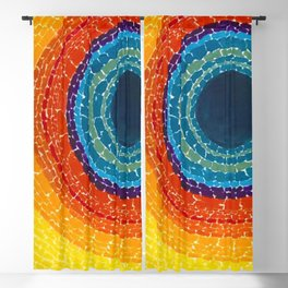 African American Masterpiece The Eclipse by Alma Thomas Blackout Curtain