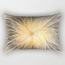 Floral Dream, Abstract Fractal Art Rectangular Pillow