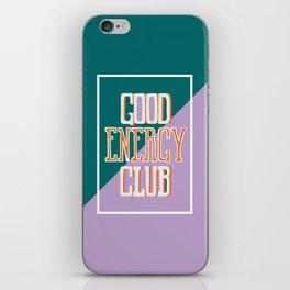 Good Energy Club- turquoise, orange, and lavender iPhone Skin