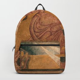 Griffin with Fruit Tree renaissance fresco Arlanza, Spain portrait painting Backpack