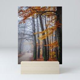 The last stroll in November Mini Art Print