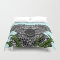 koala Duvet Covers featuring Koala by ArtLovePassion
