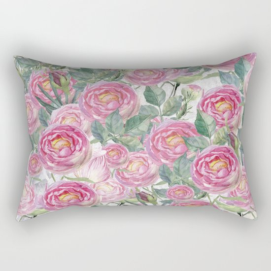 Vintage Roses Rectangular Pillow
