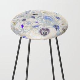 Shells - Yellow Purple Green - Casart Sea Life Treasures Collection Counter Stool