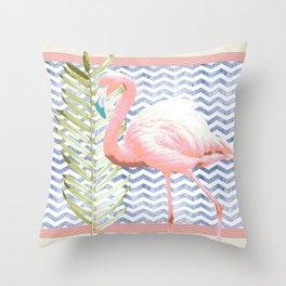Flamingo Soiree Throw Pillow