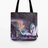 spirited away Tote Bags featuring Spirited Away by snowmarite