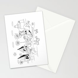 Funny Figurative Line Drawing of Alys Beach Community on 30a Stationery Cards
