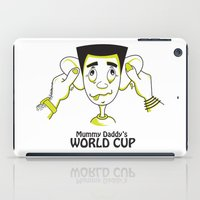 world cup iPad Cases featuring Mummy Daddy's World cup by Jyoti Khetan