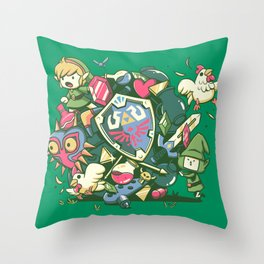 Let's Roll Link Throw Pillow